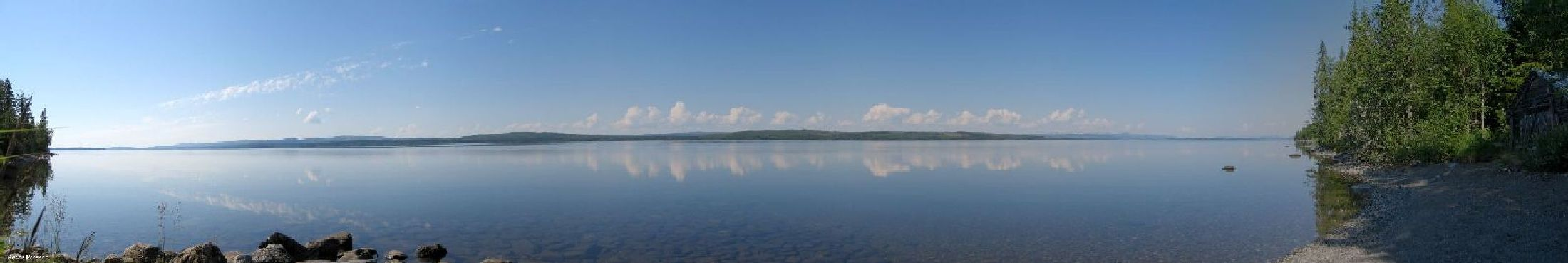Vy �ver Malgomaj, s�dra Lappland Sweden