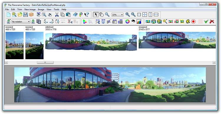Create high-quality panoramas from a set of overlapping digital images